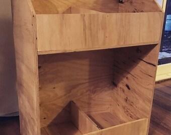 Plywood vinyl record storage unit