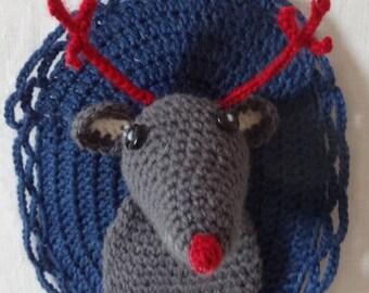 Crochet wall trophy reindeer