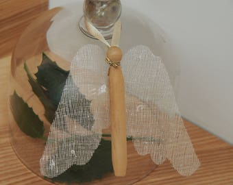 Wooden white wings Angel