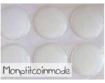 30mm - set of 3 Stickers Domes for supports cameo cabochons