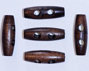 lot de 5 boutons en bois h risson marron 19 x 15 mm. Black Bedroom Furniture Sets. Home Design Ideas