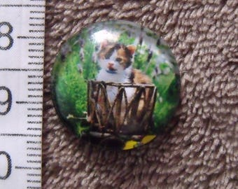 glass cabochon theme cat 20mm