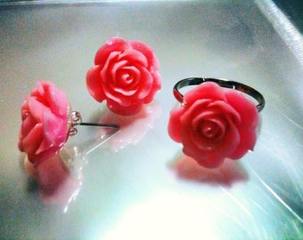 Beautiful romantic jewelry sets with delicate roses