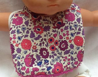 Purple Liberty anjo bib doll 36 cm