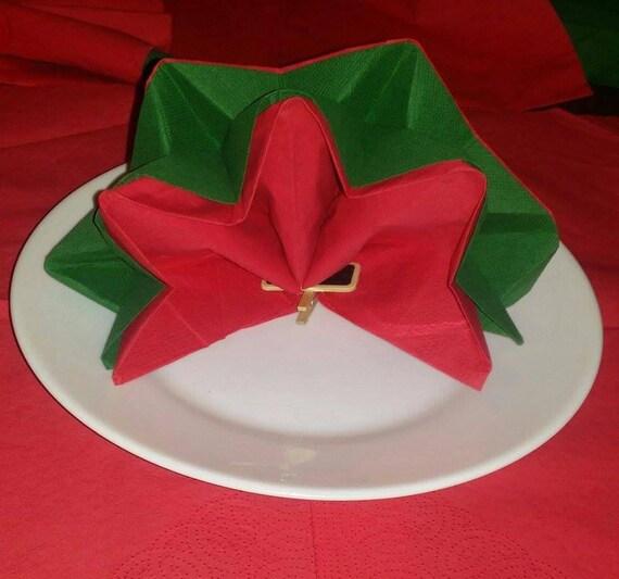 Noël Pliage Serviettes En Forme D Étoile