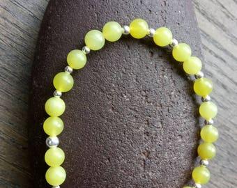 Olive Jade beaded bracelet