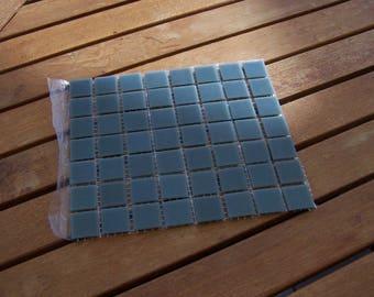 Mosaic glass gray tile 2 x 2 cm