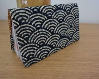 Wallet in genuine Japanese fabric