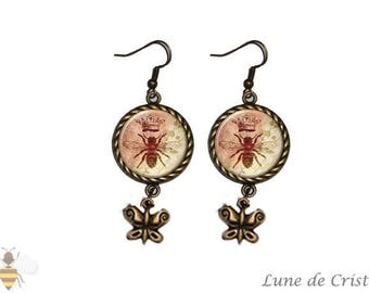 Earrings charm 'Queen Bee' - Retro Collection
