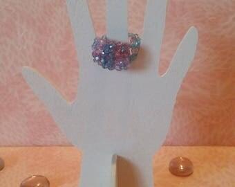 Ring beaded - hydrangea