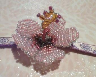 Bracelet - Hibiscus Beige / pink