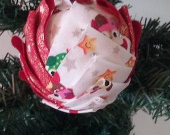 """Christmas ball """"Artichoke"""" - owls"""