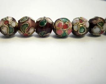 5 beads compartmentalized Asian 8 mm