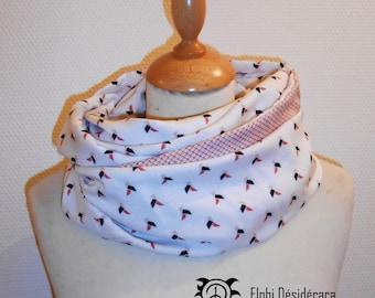 "Infinity scarf, snood""origami""tubular scarf woman very original casserole"