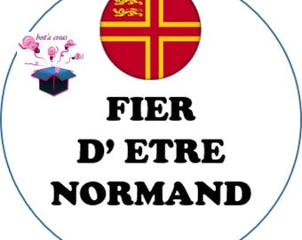1 cabochon clear 18 mm Norman flag theme