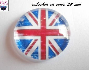 1 cabochon clear 25 mm English flag