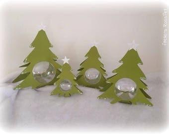 Christmas tree Christmas 20 cm + ball transparent 7cm
