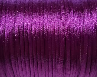 Purple 2mm Satin cord (5 m)