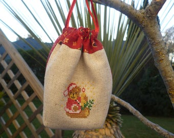 Small embroidered Christmas bags