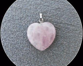 Rose Quartz (gemstone) heart pendant.