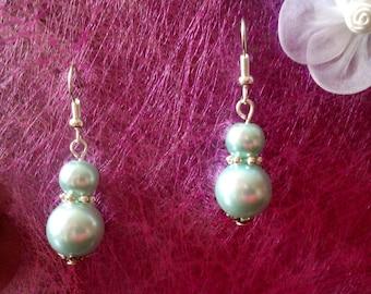 Sky Blue Pearl Earrings