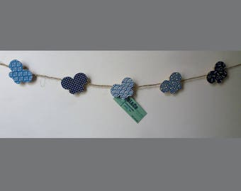 reminder to the blue butterfly Garland