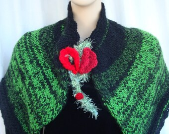 scarf cowl knitted poppy