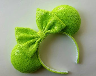 Neon green mouse ears