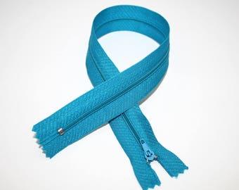 Zip closure, 35 cm, turquoise, not separable