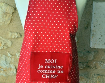 KID'S APRON 6/10 ME I LIKE A CHEF COOKING