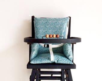 high chair blue graphic hypnotic high chair cushion baby