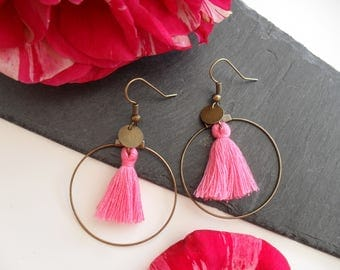 Earrings with bronze rings