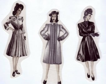 Sets of 3 applications to sew women's Retro 1 dress