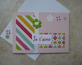 "Greeting card ""I love you"" multicolor"