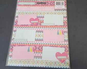 18 school stickers 5 x 8 cm