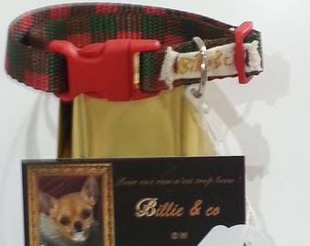 Polyester strap for small dog or cat collar