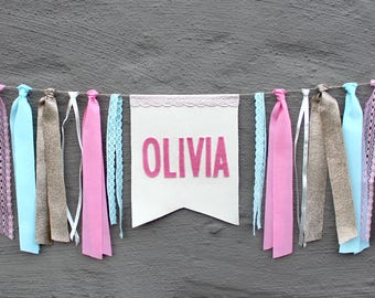 Personalized Fabric Name Banner Bunting