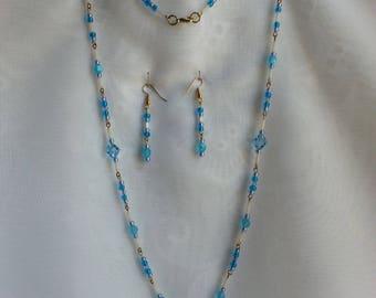 Swarovski light blue saffire faceted bicone beads