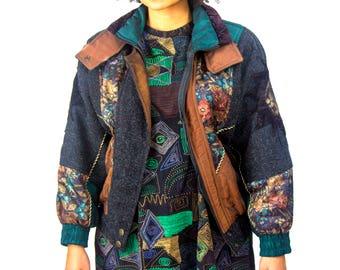 Circa: 1990's Etello Pelle Puffer Jacket