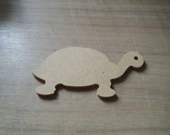 tortue en medium à peindre ou pour collage pour décoration de chambre ou pour décoration de jardin