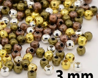 25 beads 3 mm mixed size
