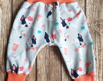 Wax with harem trousers size of 68-74 French Bulldog