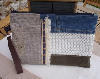 Cover - Jean - beige - khaki - canvas lace - trim