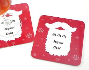 Coaster coaster table Decoration Ho Ho Ho Merry Christmas