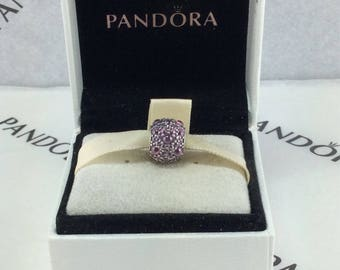 New Pandors Radiant Droplets, Purple CZ Charm