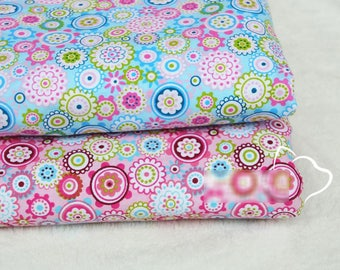 1 x coupon fabric cotton 100% flower 50x150cm liberty sewing