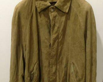 Men's Loewe Brown Suede Leather Jacket