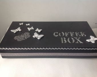COUPON... Butterfly: box coffee black and silver