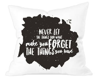 100% Polyester Typographic Throw Cushions 40cm x 40cm