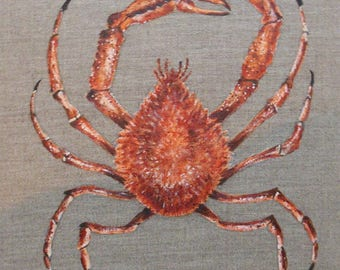 Painting the spider sea animal painting on canvas